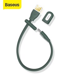 Cáp sạc ngắn 22cm tiện dụng, siêu bền Baseus Bracelet Type-C (5A Fast Charge/ Huawei Supper Quick Charge, 480Mbps Data, TPE Portable Cable)
