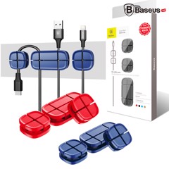 Bộ đế giữ cáp Baseus Cross Peas Cable Clip Holder LV169 ( Silicone Cable Clip Holder )