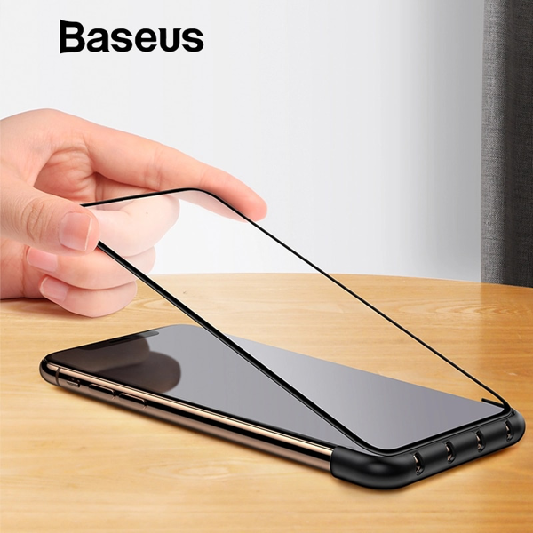 Bộ cố định dây cáp kiêm hỗ trợ dán màn hình Baseus Cable Fixing Magic Tool LV378 cho iPhone X/ XS/ XR/ XS Max (Cable Organizer and Tempered Glass Installation Helper)