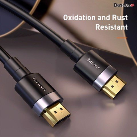 Cáp HDMI 2.0 siêu bền Baseus Cafule HDMI Cable ( 4K-60Hz/18Gbps, HDMI Male To Male, HDMI Cable, Oxidation and Rust Resistant)