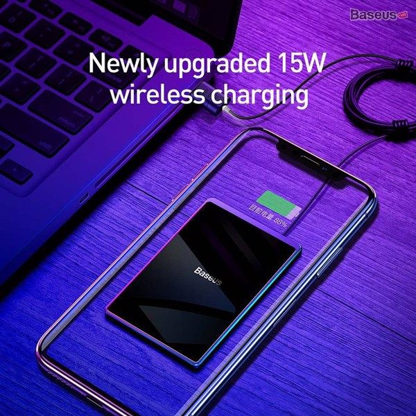 Đế sạc nhanh không dây siêu mỏng Baseus Card Ultra-thin Wireless Charger (15W, 0.3cm Portable Card Design, Qi Wireless Quick Charger with USB cable 1m)