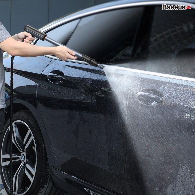 Bộ vòi xịt tăng áp rửa xe và chổi lau dùng cho xe hơi Baseus Clean Guard Multifunctional Car Wash Spray Nozzle