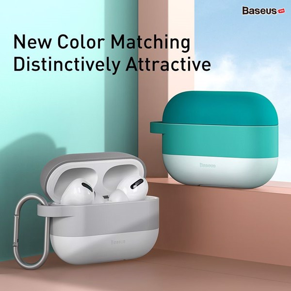 Case Silicone chống sốc, chống trầy xước cho Airpods Pro Baseus Cloud Hook Silica Gel Protective Case (Soft TPU, Oil stain and Fingerprint)