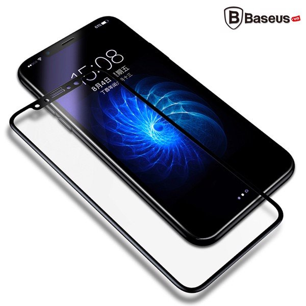 Kính cường lực 3D siêu mỏng Baseus LV159 cho iPhone X (0.23mm, Ultra Thin, 3D Tempered Glass /  PET Soft Edge Screen Protector)