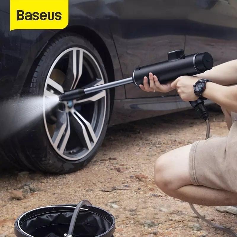 Máy phun tăng áp rửa xe ô tô sử dụng pin sạc Baseus Dual Power Portable Electric Car Wash Spray Nozzle (0.7MPa, 28.8W, IPX4, 30 phút sử dụng liên tục)
