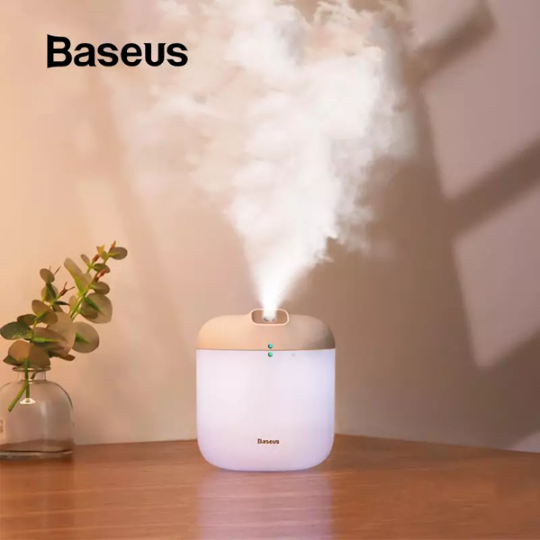 Máy phun sương tạo ẩm Baseus Elephant Humidifier (600ml , Air Diffuser, Large Spray with LED Night Light)