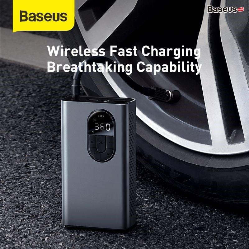 Máy bơm lốp xe hơi LV852 Baseus Energy Source Inflator Wireless Intelligent Air Pump (Pin sạc 2400mAh, theo dõi áp suất, 5-150 psi )