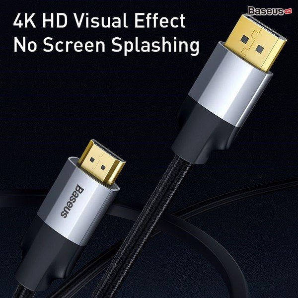 Cáp chuyển Display Port sang HDMI Baseus Enjoyment Series (DP Male To 4KHD Male Adapter Cable)