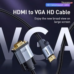 Dầu chuyển HDMI sang VGA 4K Baseus Enjoyment Series (HDMI Male To VGA Male Adapter Cable)