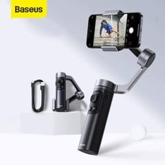 Tay cầm chống rung Baseus Control Smartphone Handheld Folding Gimbal Stabilizer (330g, 4500mAh, Bluetooth 4.0, Type C)