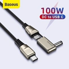 Cáp sạc nhanh Baseus Flash Series 2 in 1 C to C + DC 100W ( Fast Charging Data Cable with Round Head for Laptop Charging)