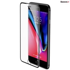 Kính cường lực chống bụi, chống trầy, siêu bền Baseus Cellular Dust Prevention cho iPhone 6/7/8/ Plus (0,3mm, 3D Curved-screen Full Coverage Tempered Glass )