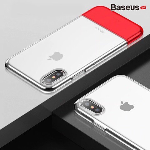 Ốp lưng Baseus Haft to Haft LV181 cho iPhone XS/ XR/ Xs Max (Soft TPU + Hard PC Fashion Transparent Silicone Case)