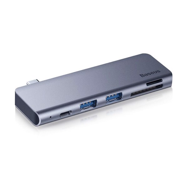 Bộ Hub chuyển đổi 5 trong 1 Baseus Harmonica Type C to USB 3.0, TF/SD Card Reader, Type C PD Adapter cho Macbook Pro/ Laptop Windows