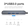 Hub chuyển Baseus Mechanical Eye 6 in 1 Smart Hub cho Smartphone/ Laptop/ Macbook (Type C to 3x USB 3.0, HDMI 4K, LAN RJ-45, Type C PD Expansion Smart Dock)