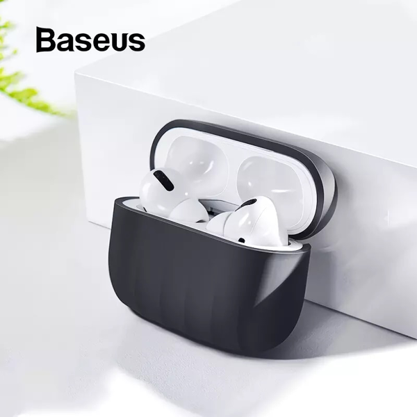 Case chống sốc cho Airpods Pro Baseus Shell Pattern Case (Soft TPU, Oil stain and Fingerprint Silica Gel)