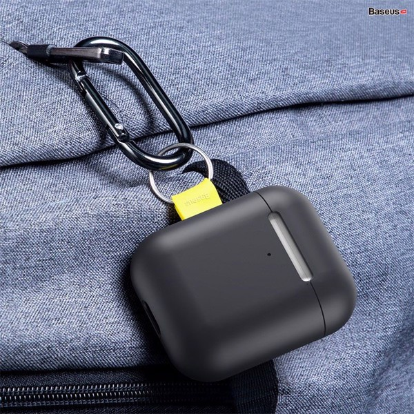 Case chống sốc có móc khoá đeo cho Airpods Baseus Let''s go Woven Label Hook Protective Case (For AirPods 1/2 Generation)