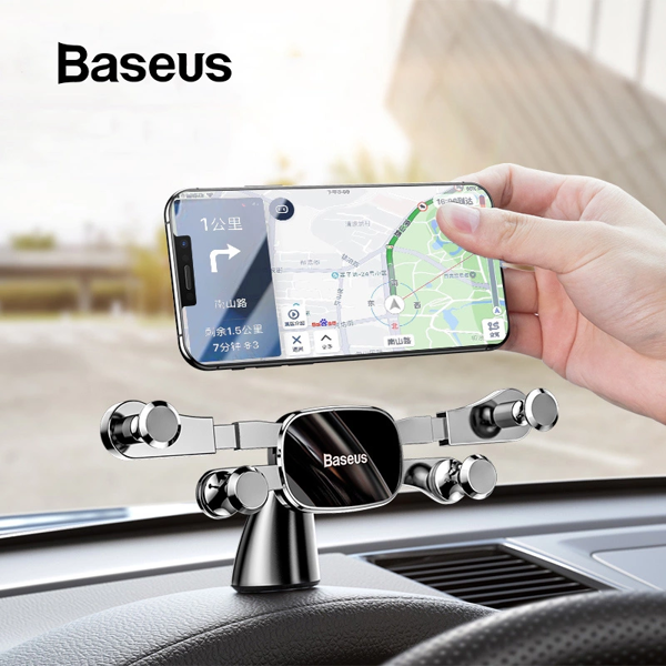 Bộ đế giữ điện thoại trên ô tô Baseus Horizontal Screen Gravity Holder (Paste Type,Vehicle-mounted, Car Holder )