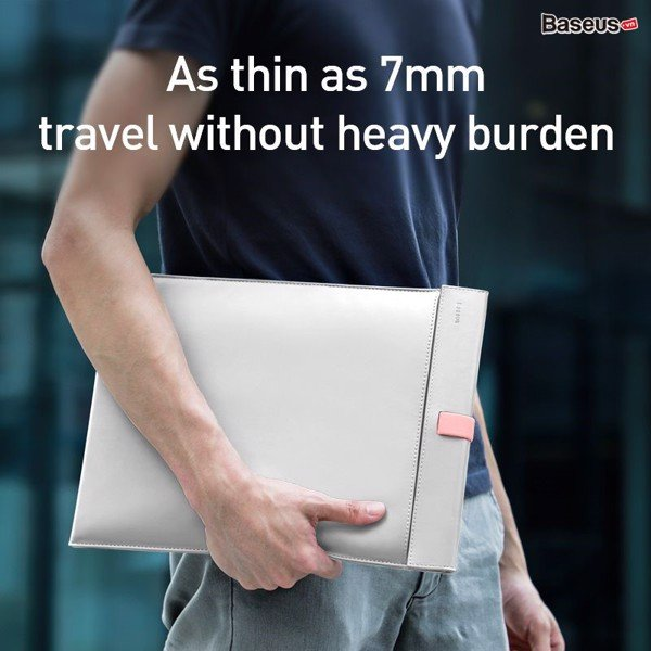 Túi da PU 2 lớp cao cấp chống thấm, trầy xước Baseus Let''s Go Traction Computer Liner Bag cho iPad/ Macbook/ Laptop (Double Layers, Magnetic switch, Waterproof, PU Leather, 13/ 16 inches Bag)