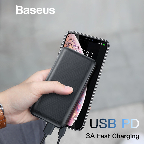 Pin sạc dự phòng Baseus Mini Q PD Fast Charge 20,000mAh cho Smartphone/ Tablet/ Macbook (15W, Power Delivery , USB + Type C PD in/out)