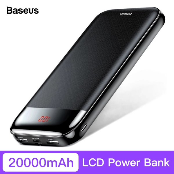 Pin sạc dự phòng Baseus Mini Cu Digital Display 20,000mAh cho Smartphone/ Tablet/ Macbook (PD 3.0 Power Delivery , LED, 2 Port USB + Type C PD in/out)