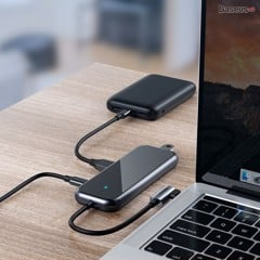 Bộ Hub chia cổng Type C Baseus Superlative Multi-functional 4 in 1 (Type-C to USB2.0 x 4, Smart HUB)