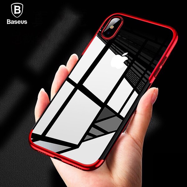Ốp lưng Silicone dẽo trong suốt viền si Crome màu Baseus Shining Case cho iPhone XR/ XS/ XS Max ( Soft TPU Silicone)