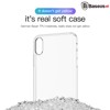 Ốp lưng Silicone trong suốt chống bụi Baseus Simplicity Series cho iPhone XS/ XR/ XS Max ( TPU Soft Silicone, Dirt-resistant Case)