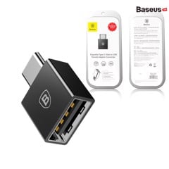 Đầu chuyển OTG USB Type C sang USB Full size Baseus (TYPE C Male to USB Female Cable Adapter Converter)