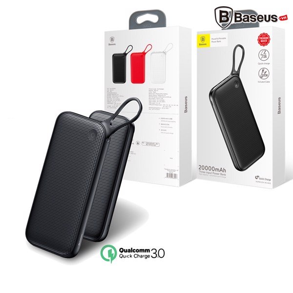 Pin sạc dự phòng Baseus LV152 cho Smartphone/ Tablet/ Macbook (Quick charge 3.0/ 20,000mAh/ 2 Port USB Type A + Type C)