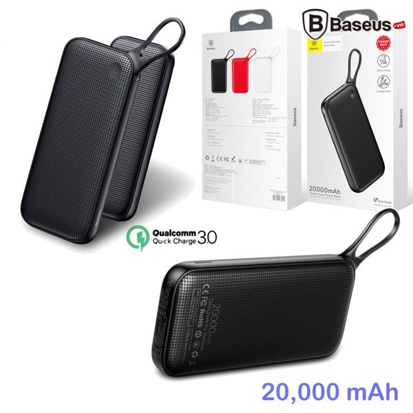 Pin sạc dự phòng Baseus LV158 PD Pro cho Smartphone/ Tablet/ Macbook (Support Power Delivery PD Fast Charge/ 20,000mAh/ 2 Port USB Type A QC3.0+ Type C)