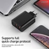 Bộ sạc nhanh đa năng, công suất cao Baseus PPS Quick Charger 60W cho Smartphone/ Tablet/ Laptop (3 ports, Type C+ Dual USB, PPS/ PD/ QC Full Quick Charge Protocol )