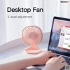 Quạt mini để bàn Baseus Baseus Pudding-Shaped Fan ( 3 mức tốc độ - Mini USB Air Cooling Fan Clip Desk Fan)