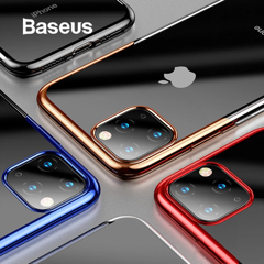 Ốp lưng Silicone dẽo trong suốt viền si Crome màu Baseus Shining Case cho iPhone 11/Pro/Pro Max 2019 ( Soft TPU Silicone Clear Case)