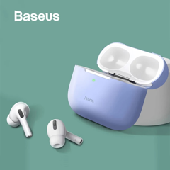 Bao Silicone siêu mỏng dùng cho Airpods Pro Baseus Super Thin Silica Gel Case (0.8mm, Oil stain and Fingerprint)