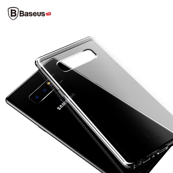 Ốp lưng Silicone trong suốt chống bụi Baseus Simple Case cho Samsung Galaxy Note 8 ( Soft Silicone, Dirt-resistant Case)