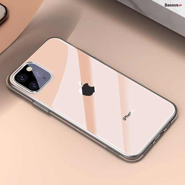 Ốp lưng Silicone trong suốt Baseus Simplicity Series dùng cho iPhone 11/ Pro/ Pro Max 2019 (Ultra Thin, Soft TPU Clear Case)