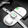 Bộ sạc không dây Baseus Smart 3 in 1 Wireless Charger For Phone, Apple Watch, Airpods (18W Max, Wireless Quick Charger)