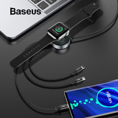 Cáp sạc 3 đầu tích hợp sạc không dây cho Apple Watch Baseus Star Ring Series 4 in 1 Wireless Charging Cable ( USB Type A to USB Type C/ Micro USB/ Lightning With Apple Watch charger)