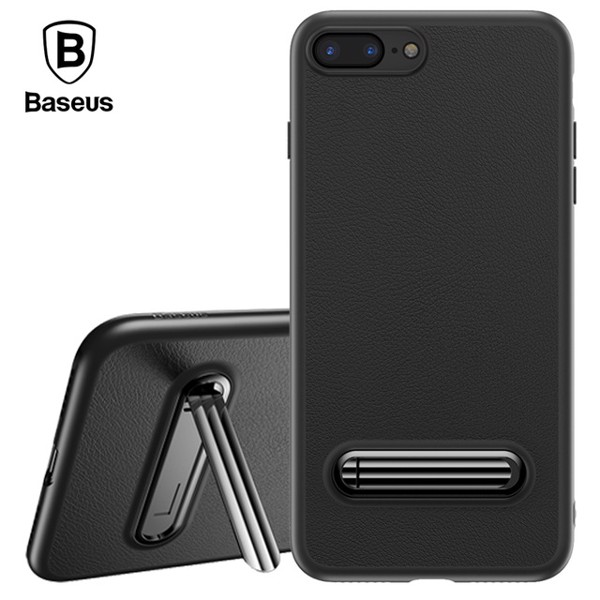 Ốp lưng giả da tích hợp chân đứng Baseus Happy Watching Case cho iPhone 8/ iPhone 8 Plus (Kickstand/ Magnetic Holder Stand Phone Cover)