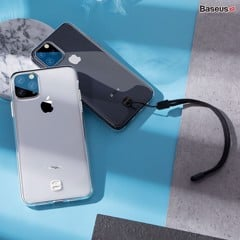 Ốp lưng trong suốt có dây đeo tay chống rớt Baseus Transparent Key Phone Case cho iPhone 11 Series ( TPU Soft Silicone, Dirt-resistant, Prevent Dropping Case)