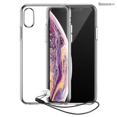Ốp lưng trong suốt có dây đeo tay Baseus Transparent Key Phone Case dùng cho iPhone X/ XS/ XR/ XS Max ( TPU Soft Silicone, Dirt-resistant, Prevent Dropping Case)
