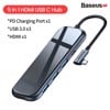 Hub chuyển đa năng Baseus Superlative Multifunctional 5 in 1 (Type-C to 4x USB3.0 + Type C PD)