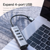 Hub chuyển Type C to USB 3.0 và HDMI Baseus Enjoy Series  (Type C to USB 3.0 x4 Ports + HDMI 4K,  5 in 1 intelligent HUB Adapter )