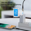 Cáp sạc nhanh C to Lightning Baseus Waterdrop Series PD cho iPhone/ iPad ( 1.3m, Type-C to iPhone Power Delivery 18W Quick charge & Data Zinc Alloy Cable)