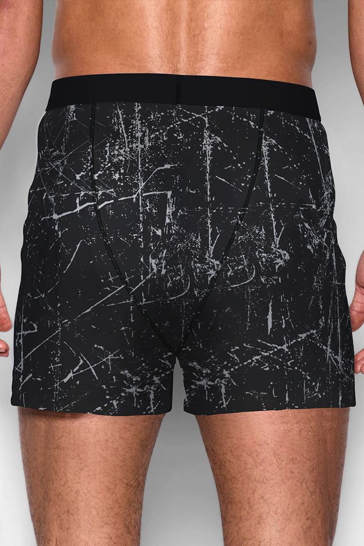 Quần Boxer Black Printed AM00006