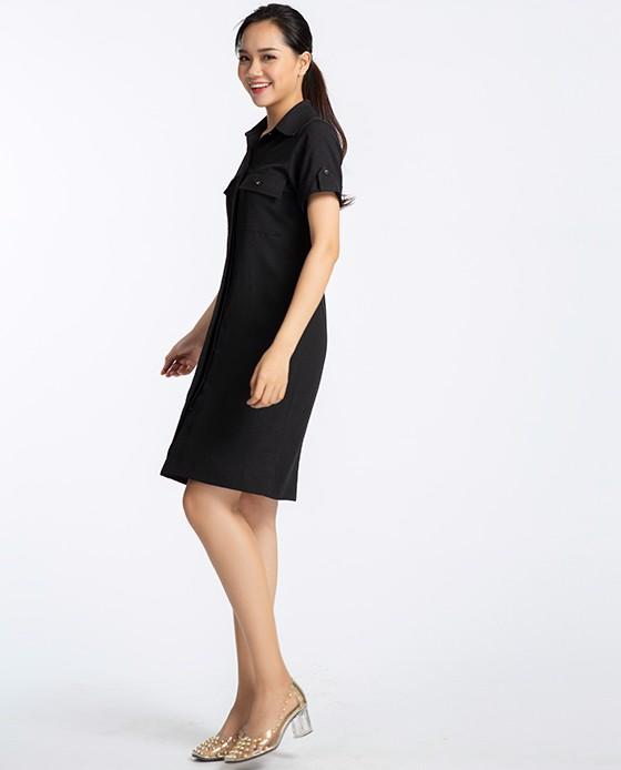 Đầm Sơ Mi Đen Thanh Lịch | Thời trang thiết kế Hity