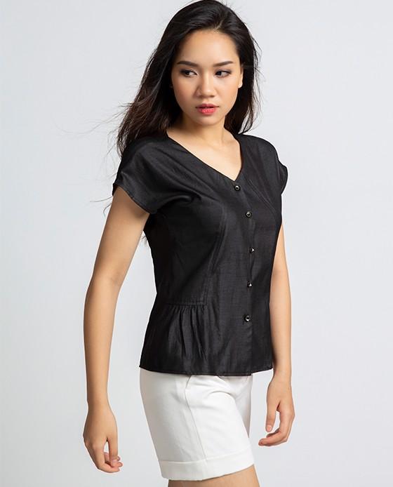 Áo Kiểu Nhún Eo Nhẹ Nhàng | Thời trang thiết kế Hity