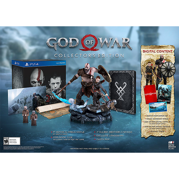 God Of War Collector's Edition cho máy PS4