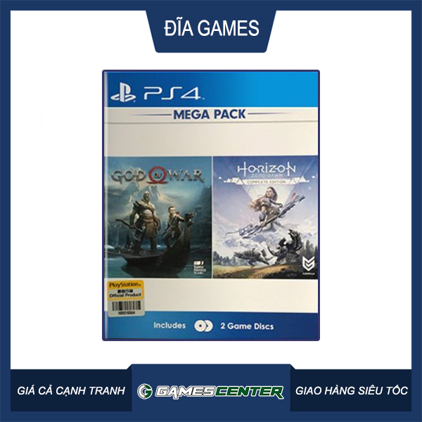Mega Pack God Of War + Horizon Zero Dawn CE cho máy PS4